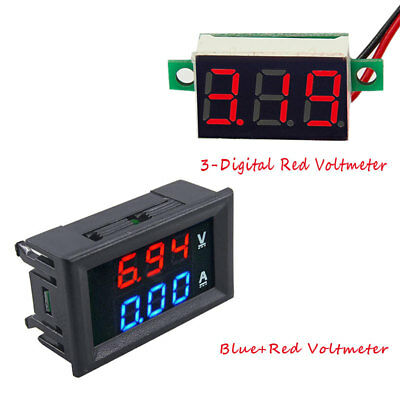 Digital Red Led Voltage Meter Dc100v 10a Voltmeter Ammeter Bluered Led Amp Dual
