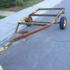 Utility trailer rolling frame