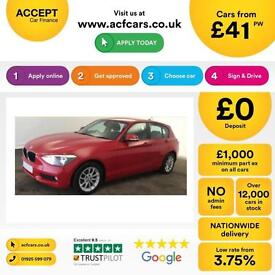 BMW 118 2.0TD auto 2012MY d SE FROM £41 PER WEEK !