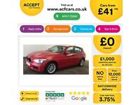Red BMW 118d 2.0TD auto 2012 SE Sport Alloys FROM £41 PER WEEK !