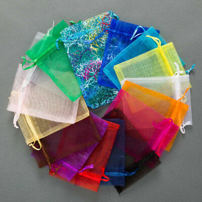 25/100Pcs Multi-size Organza Gift Bags Pouch For Wedding Xmas Candy Jewelry Bags ()