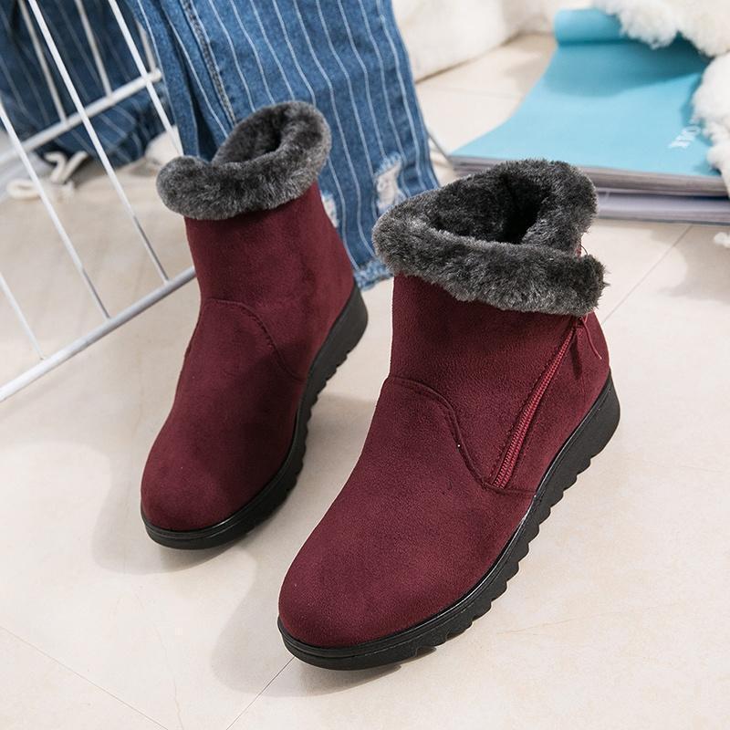 New Waterproof Women Winter Boots Mother Shoes Ankle Rain Wa