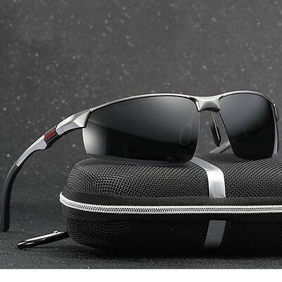 Herren Sonnenbrille Polarisiert Fahren metal Brillen Sport UV 400 Pilotenbrille ()