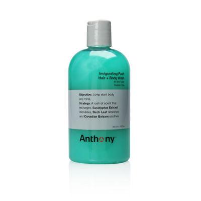 Anthony Logistics for Men Invigorating Rush Hair + Body Wash 355ml/12oz (Anthony Logistics Hair Body Wash)