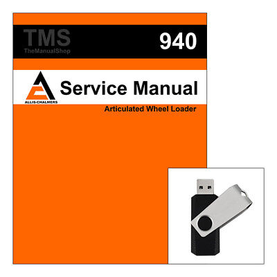 Agco Allis Chalmers Ac 940 Articulated Wheel Loader Service Repair Manual - Usb
