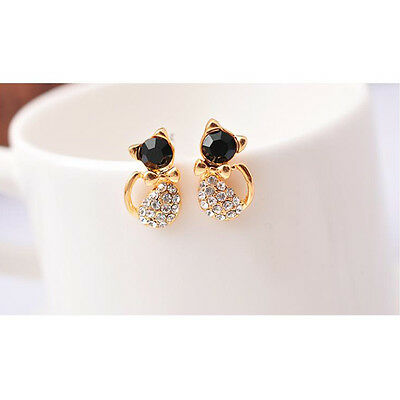 1 Pair Cute Fashion Women Lady Elegant Crystal Rhinestone Ear Stud Earrings