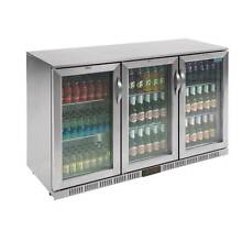 New 3 Door Bar Fridge 1350mm Stainless Steel Under Bench Refriger Campbelltown Campbelltown Area Preview
