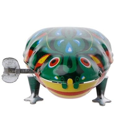 Metal Wind-up Jumping Frog Clockwork Tin Toys Children Funny Vintage Doll Game - Jumping Toy