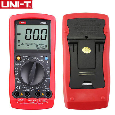 Uni-t Ut107 Lcd Automotive Handheld Multimeter Acdc Voltmeter Tester Meters