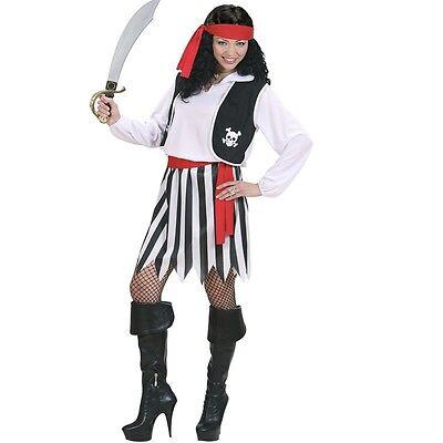 TOP Piratin Piraten klassisches Kostüm für Damen - Karneval Fasching - Piraten Kostüm Top