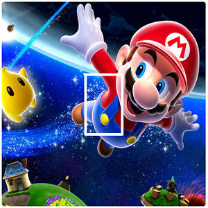 SUPER MARIO GALAXY SPACE - LIGHT SWITCH STICKER / COVER / VINYL - KIDS BEDROOM