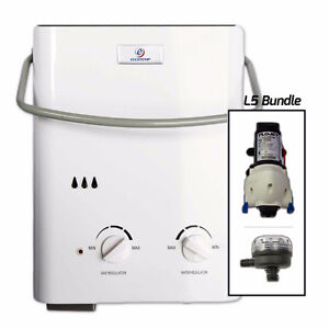 Eccotemp L5 Tankless Water Heater Bundle (12V pump & strainer)