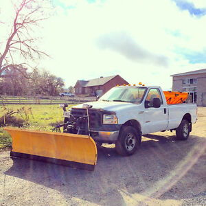 2005 Ford F350 Superduty Diesel Auto 4X4 Plow and Salt Truck