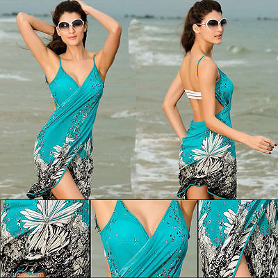 Summer Women Bathing Suit Bikini Swimwear Cover Up Beach Dress Sarong Wrap Pareo