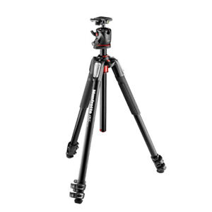 New Manfrotto MK055XPRO3-BHQ2 Aluminum 3-Section Tripod with XPR