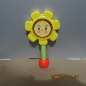 1980s Vintage Fisher Price Flower Rattle & Pull Along Turtle