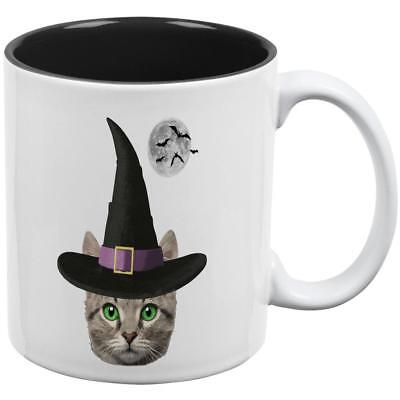 Halloween Funny Cat Witch All Over Coffee - Halloween Over Funny