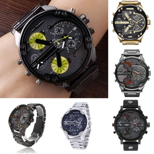 $10.99 - Men's Luxury Watch Stainless Steel Sport Analog Quartz Wristwatches Fashion USA