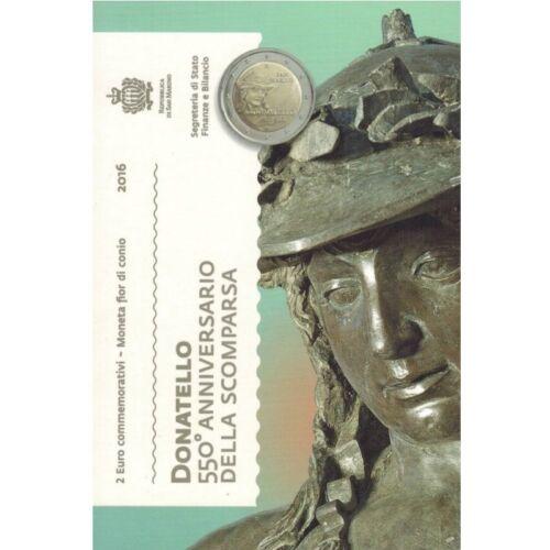 "2016 San Marino 2 Euro Brilliant Uncirculated Coin ""Donatello 550 Years"""