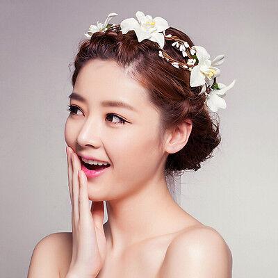 Newly Lady Bohemian Headband Wedding Party Flower Crown Headpiece Beach Rosette