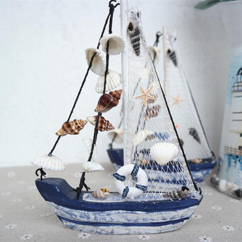 Peschereccio Barca In Legno Decorazione Casa Marina Articolo Da Regalo moc