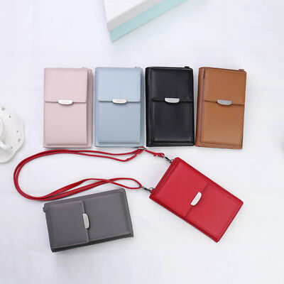 Women Wallet Purse Mini Shoulder Bag Leather Coin Cell Phone