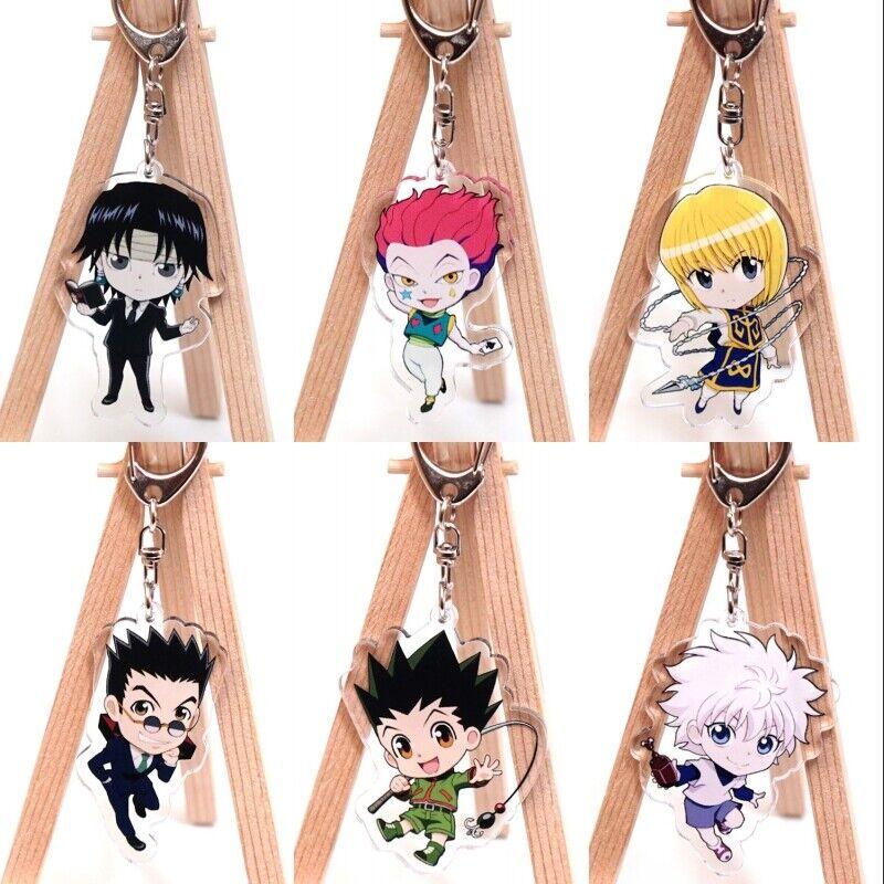 Hunter x Hunter Cute Key Chain Backpack Key Charms Pendants Anime Keychain Gon