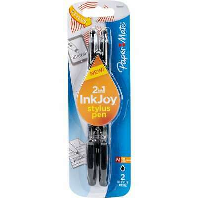 Inkjoy Gel Pen 1.0mm With Stylus 2pkg Black 071641084421