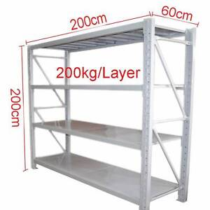 2M Steel Garage Warehouse Rack Storage Shelving Work Bench 800kg Revesby Bankstown Area Preview