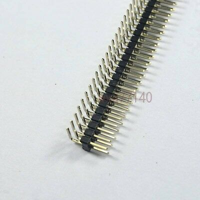 10pcs Rohs 2x40 2.54mm Pin Header Double Row Right Angle For Diy Dip Pcb Board