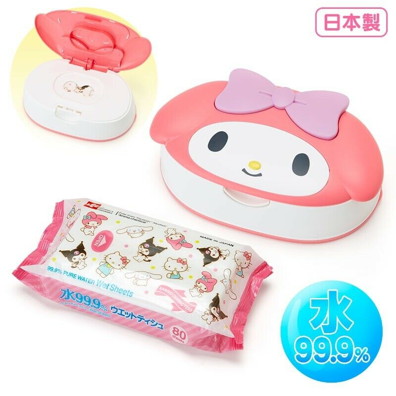 Sanrio My Melody Wet Wipes Case W/ Wipe 80ct Kawaii Made In Japan