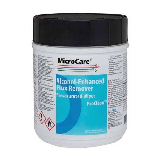 Micro Care MCC-PROW ProClean Flux Remover Wipes / Presaturated / Alchohol Based