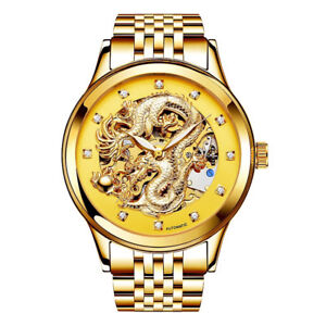 Gold Dragon & Gold Phinex Automatic Watches