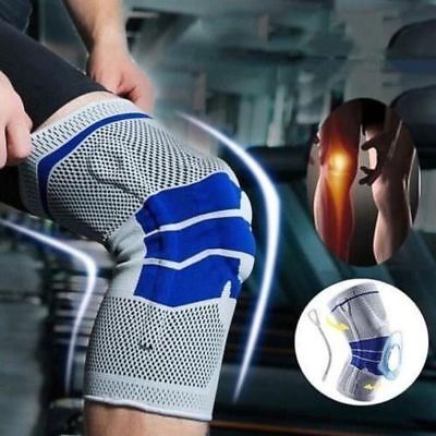 Soft Spring - Silicone Spring Knee Brace Sport Support Strong Meniscus Protection Compression