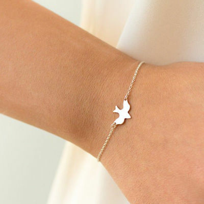 Womens Peace Bracelet - Charm Peace Dove Chain Bracelet Pendant Bangle Woman Simple Style Jewelry