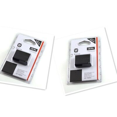 2 x NP-FW50 FW50 battery For Sony NEX5 NEX3 NEX-5 NEX-3C A55...