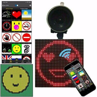 Wireless Bluetooth App Controlled Car Emoji Emoticon Animated LED Display Screen