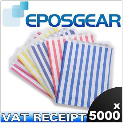 5000 Mixed Candy Stripe Paper Wedding Sweet Gift Shop Food Party Bags 7