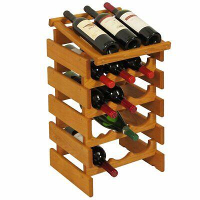 Wooden Mallet Dakota 5 Tier 15 Bottle Display Wine Rack in Medium Oak for sale  Sterling