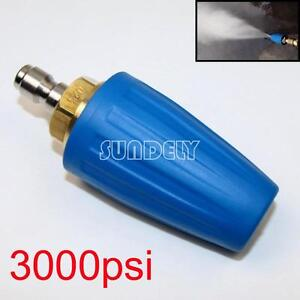3000PSI/207BAR Pressure Washer Blue Rotating Turbo Nozzle With 1/4