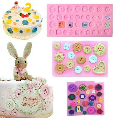 Button Mold (Button Silicone Fondant Mold Cake Decorating Sugarcraft Chocolate Baking)