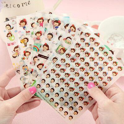 6pcs DIY Cartoon Honey Bee Girl PVC Stickers Kawaii Sticker notebook Decoration (Diy Notebook)