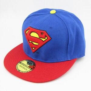 New-Blue-Red-Superman-Classic-hiphop-Snapback-Adjustable-baseball-cap-flat-hat