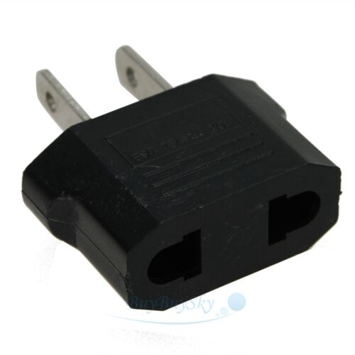 EU Euro Europe to US USA Power Jack Wall Plug Converter Travel Adapter USA