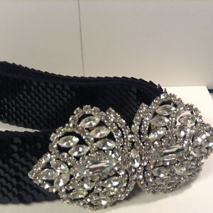 Buckle Crystal Belt Size M