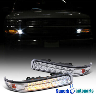 For 1999-2002 Silverado 2000-2006 Tahoe LED Bumper Lights Parking Signal Lamps