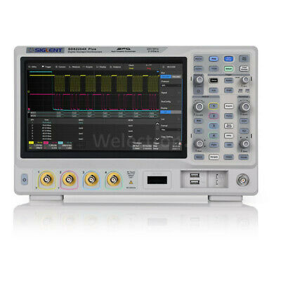 Siglent Sds2204x Plus 4ch 200mhz 2gssx2 Oscilloscope W 10.1 Touch Screen