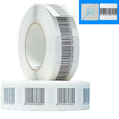 Eas Anti Theft 24k Checkpoint Compatible 8.2mhz Rf Label 3x3 Fake Barcode