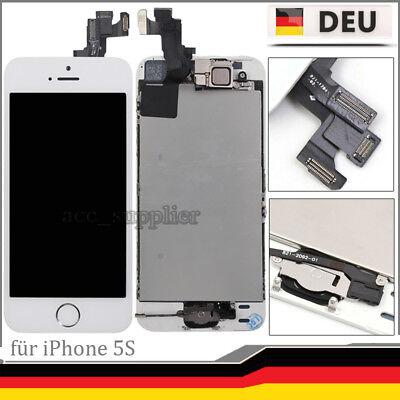 Für iPhone 5S Display LCD Vormontiert mit Ersatz Glas Bildschirm Front