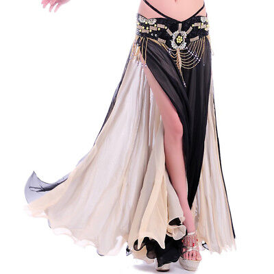 C215 Bauchtanz Kostüm Rock mit 2 Farbe beidseitig tragen / ohne (Tanzen Tragen Tanz Kostüm)